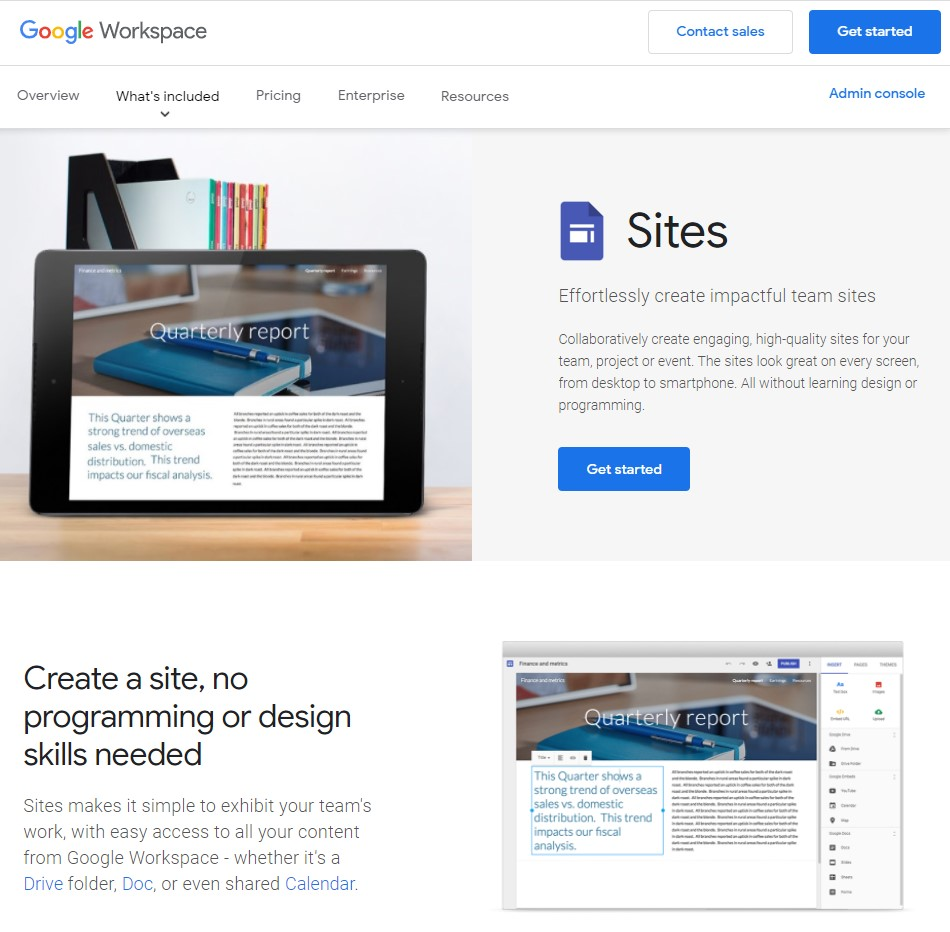 Google Sites by Google Workspace