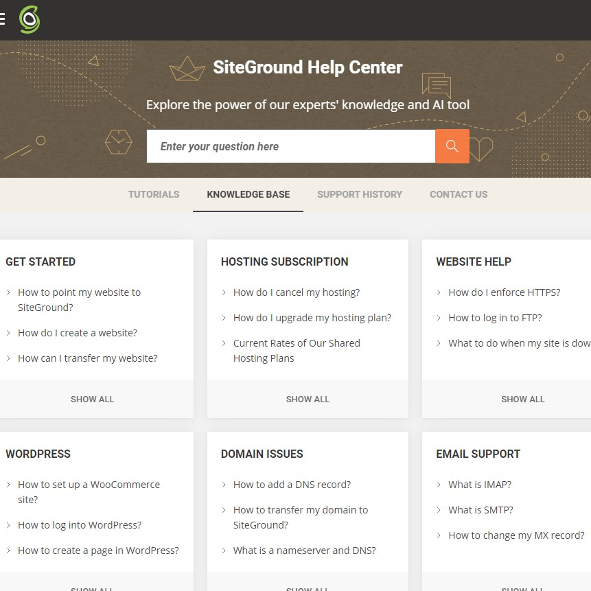 SiteGround Customer Service