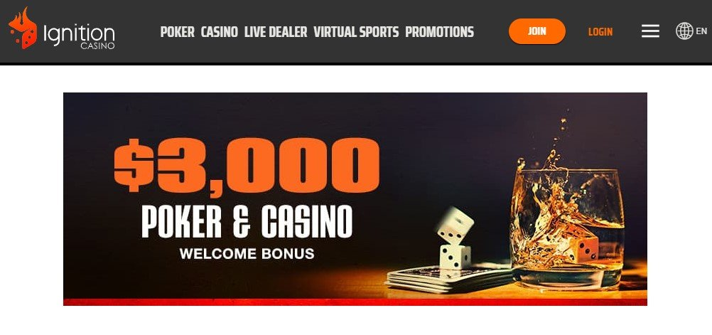 $3K Ignition Casino Poker Bonus